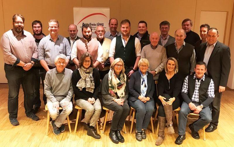 Foto Nominierungsversammlung Parteifreie FWG